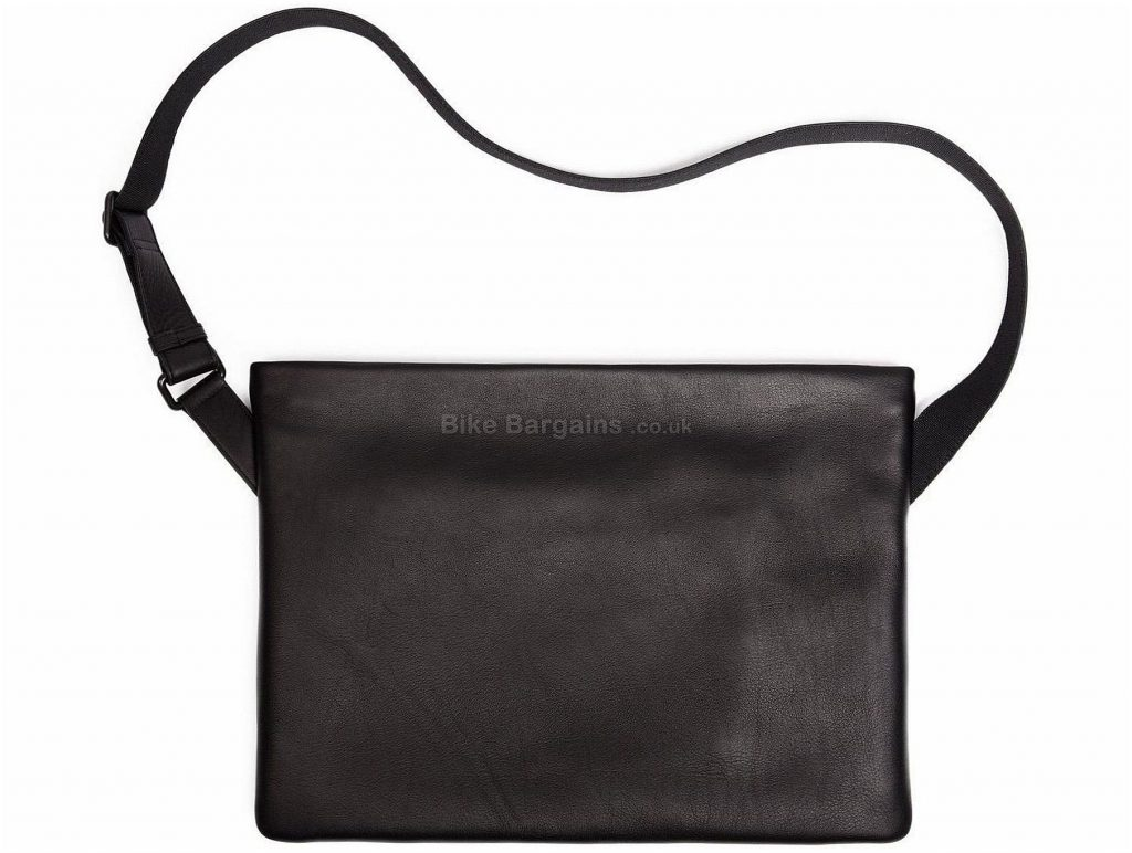 Rapha Leather Musette One Size, Grey, Black, 38cm, 28cm