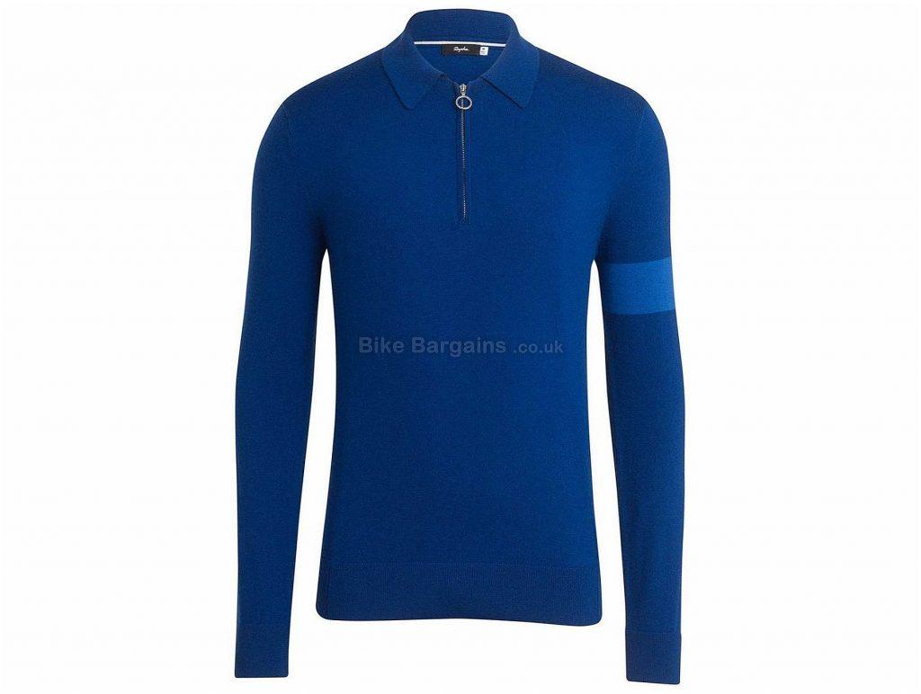Rapha Long Sleeve Merino Polo XS, XL, Blue