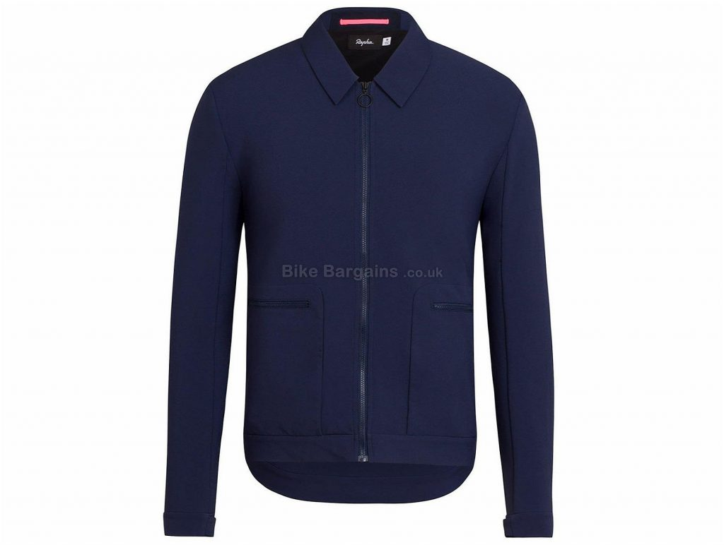 Rapha Loopback Long Sleeve Jacket XS, Blue