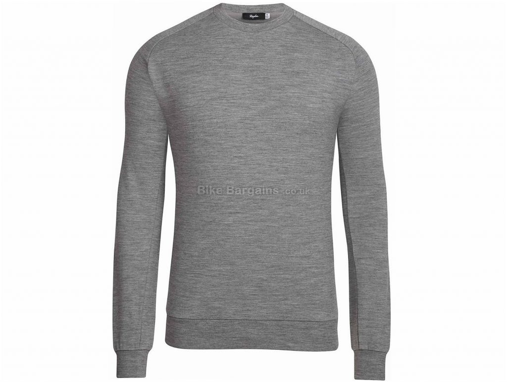 Rapha Merino Long Sleeve Sweatshirt XS, Grey