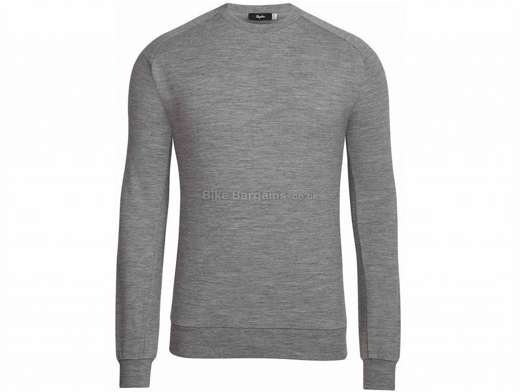 Rapha Merino Long Sleeve Sweatshirt XS, XXL, Grey