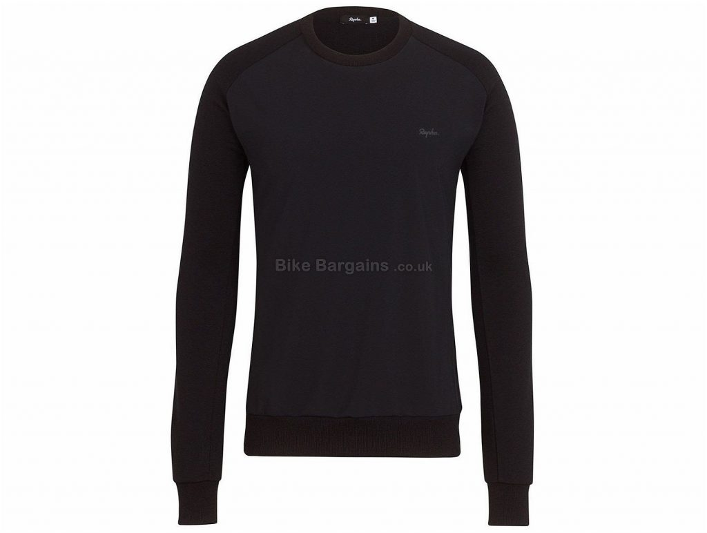 Rapha Merino Windblock Long Sleeve Sweatshirt XS, S, Blue, Black