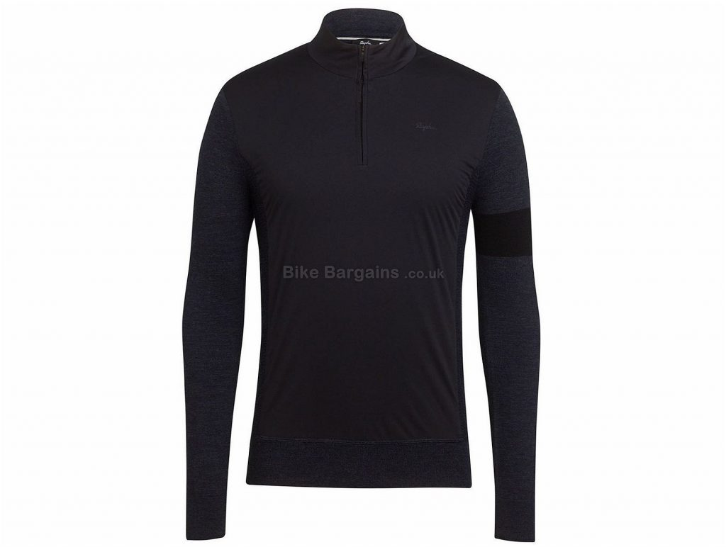 Rapha Merino Zip Long Sleeve Jersey XS,XL, Grey, Blue