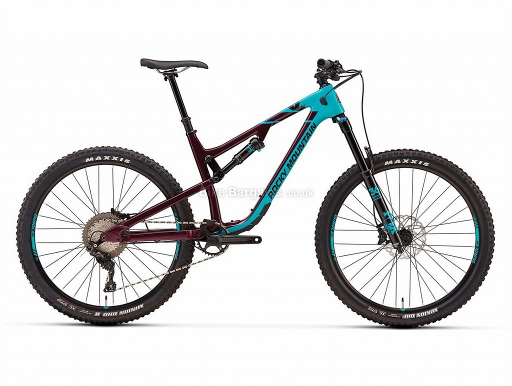 "Rocky Mountain Altitude 50 27.5"" Carbon Full Suspension Mountain Bike 2018 S, Grey, Black, Blue, Red, Full Suspension, Carbon, 27.5"", 11 Speed"