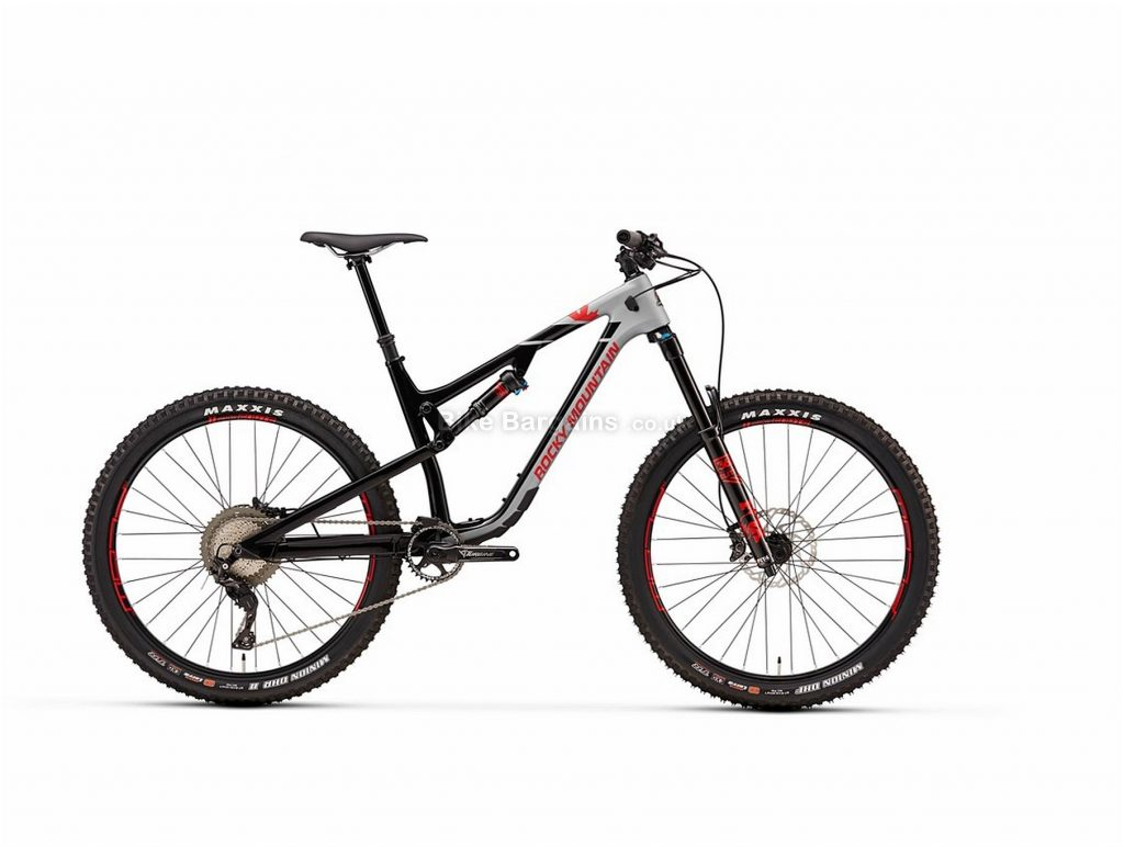 """Rocky Mountain Altitude 70 27.5"""" Carbon Full Suspension Mountain Bike 2018 S, Grey, Black, Blue, Red, Full Suspension, Carbon, 27.5"""", 11 Speed"""