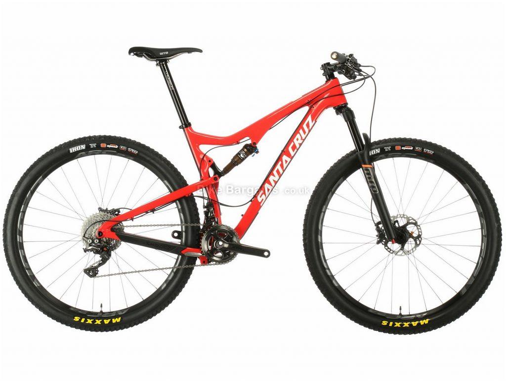 "Santa Cruz Tallboy 2 CC 29"" Carbon Full Suspension Mountain Bike 2016 L, Red, Carbon, 29"", 11.72kg, 22 Speed"
