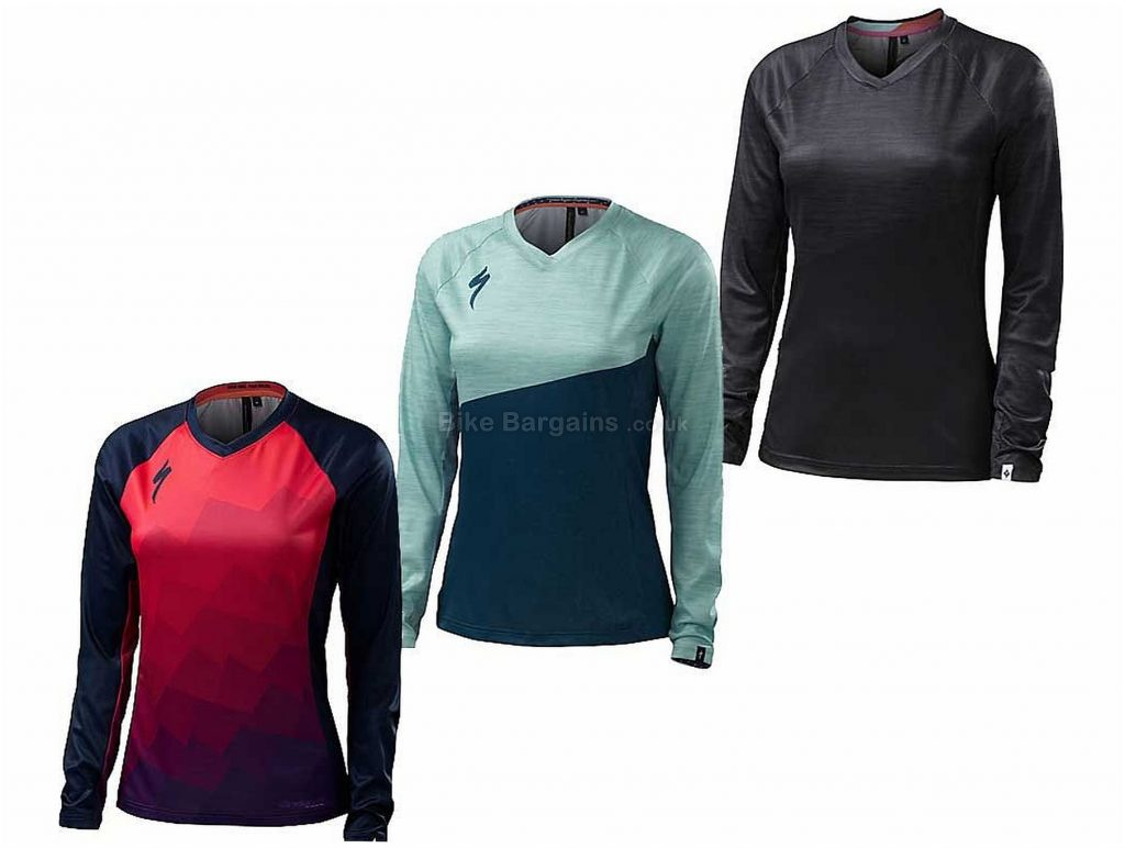 Specialized Andorra Comp Ladies Long Sleeve Jersey 2017 XS, Turquoise, Blue, Long Sleeve