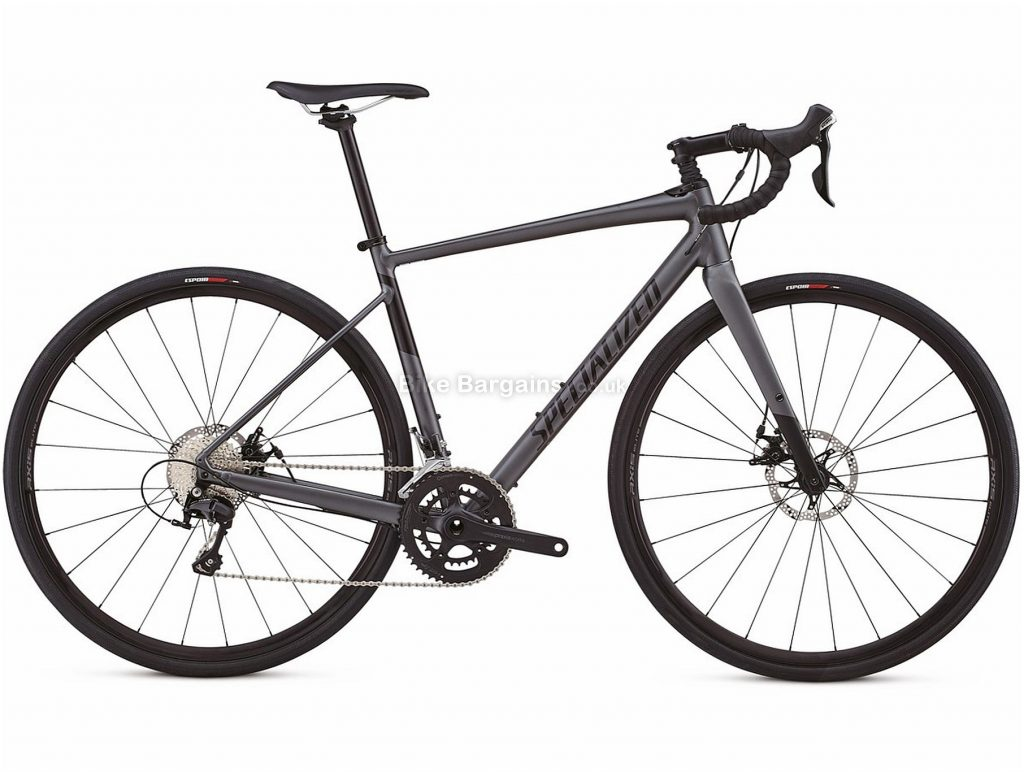 Specialized Diverge Comp E5 Disc Alloy Road Bike 2018 54cm, Grey, Black, Alloy, 700c, 22 Speed, Disc Brakes