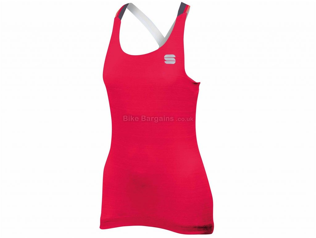 Sportful Grace Ladies Sleeveless Vest Top S, Pink, Black, Sleeveless