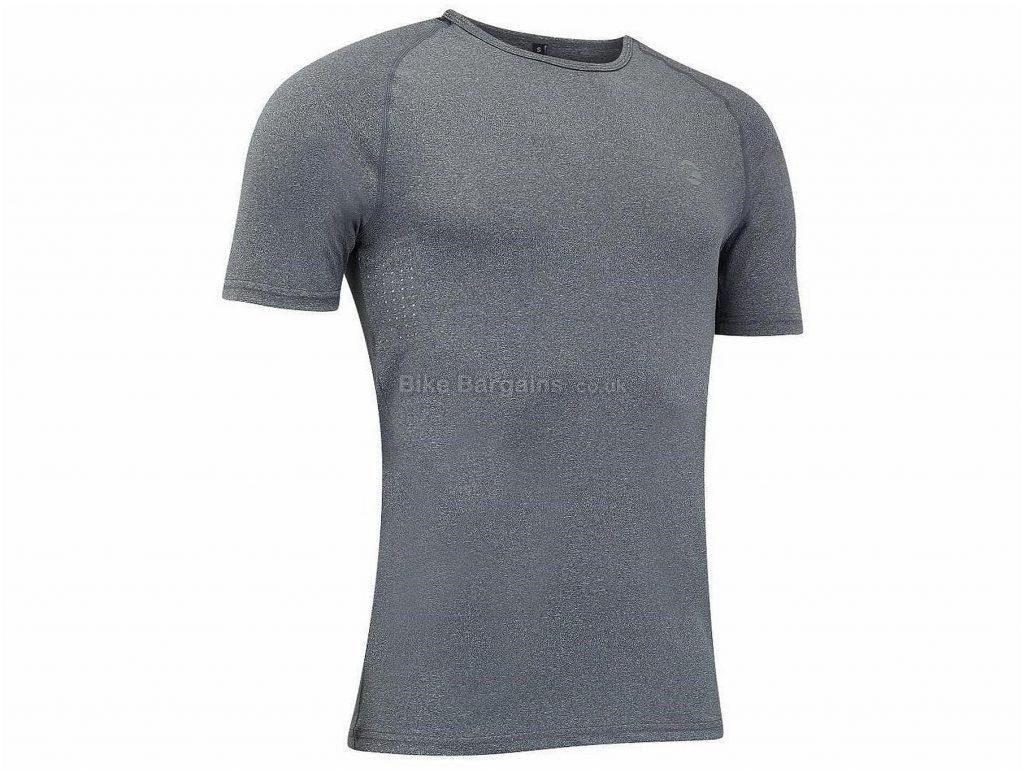 Tenn Dry Ice Baselayer Top XL, Grey, Short Sleeve