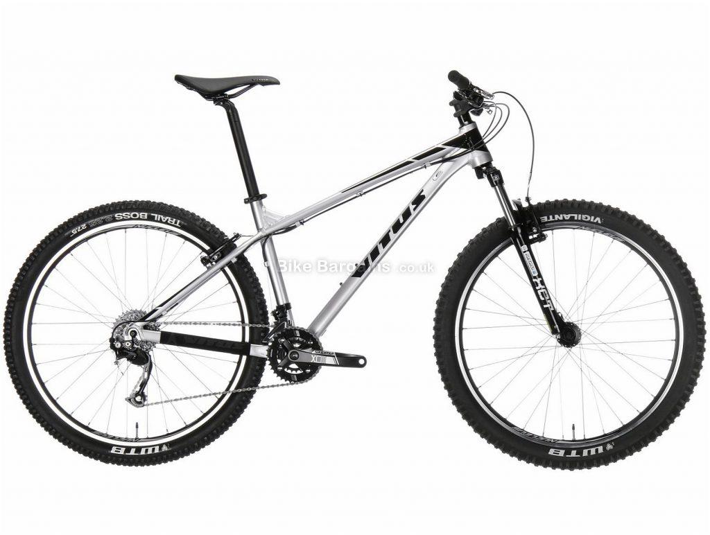 """Vitus Nucleus 275 V Tourney Alloy Hardtail Mountain Bike 2018 20"""", Silver, Black, Alloy, 27.5"""", 27 Speed"""