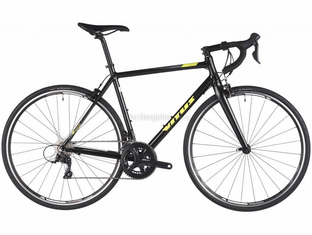 Vitus Razor VR Alloy Road Bike 2018 56cm, Black, Yellow, Alloy, 700c, 9.99kg, 18 Speed, Calipers