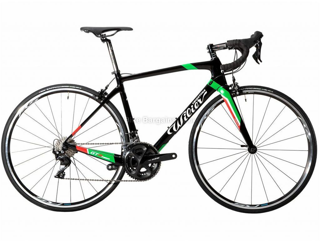 Wilier GTR Team 105 Carbon Road Bike 2019 M, Black, White, Green, Red, 700c, 22 Speed, Carbon