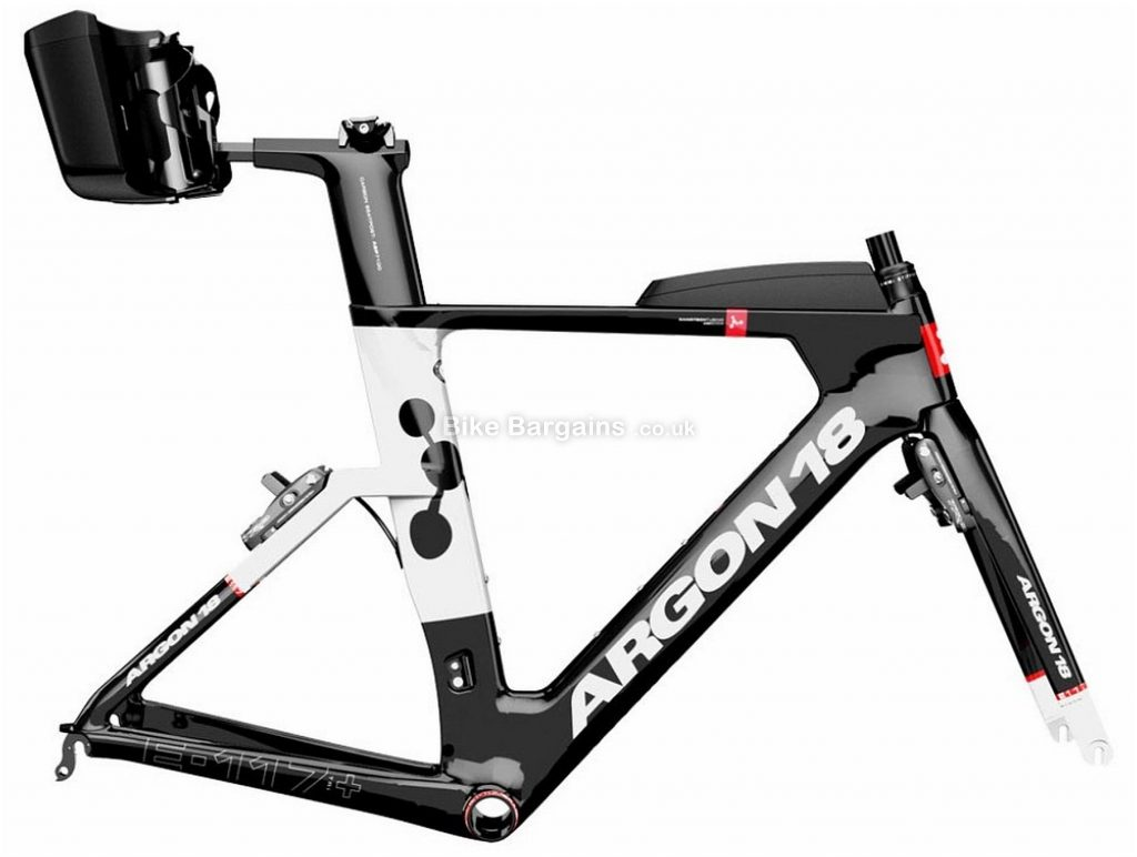 Argon 18 E-117 Tri+ Carbon TT / Tri Frame XS, Black, White, Red, 700c, Carbon, Calipers