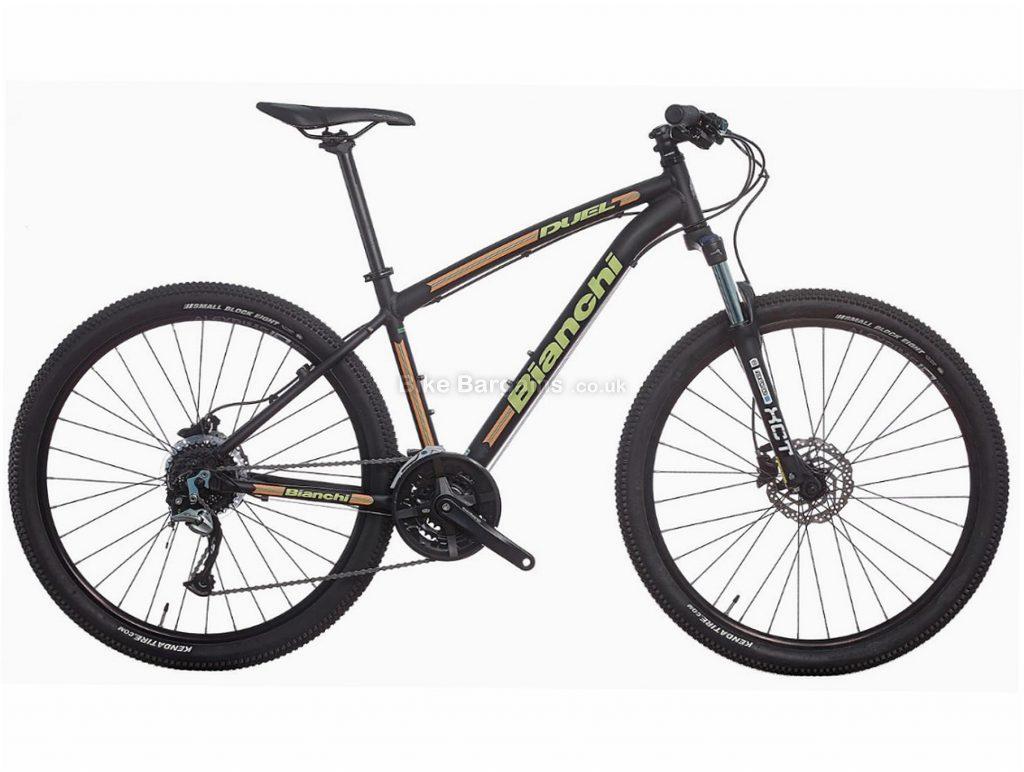 "Bianchi Duel 27S Acera Alloy Hardtail Mountain Bike 2017 21"", Black, 27.5"", Hardtail, 27 speed, Alloy, Disc"