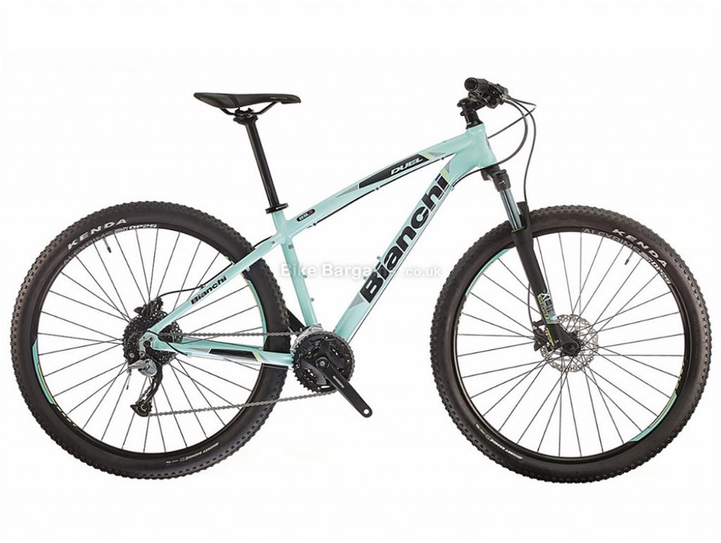 """Bianchi Duel 27s Acera Alloy Hardtail Mountain Bike 2018 19"""", Turquoise, 27.5"""", Hardtail, 27 speed, Alloy, Disc"""