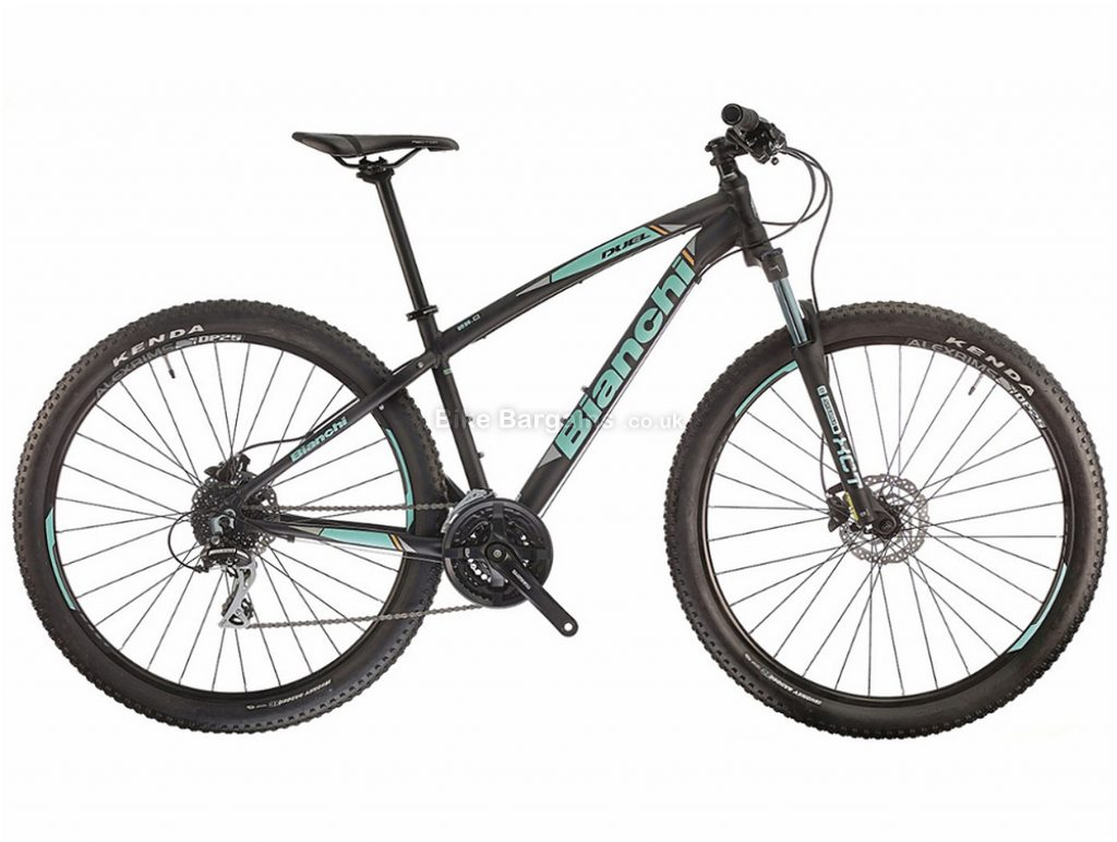 "Bianchi Duel 29.0 Acera Alloy Hardtail Mountain Bike 2018 17"", Black, 29"", Hardtail, 24 speed, Alloy, Disc"