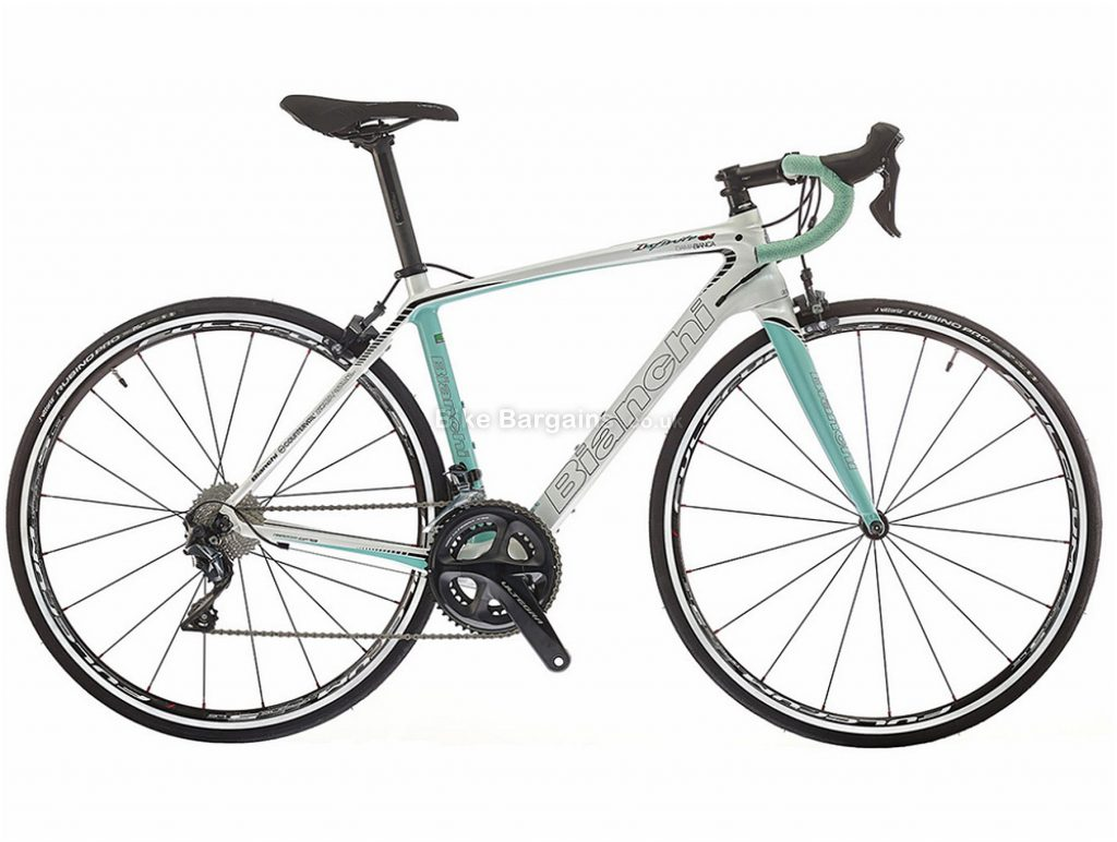 Bianchi Infinito CV Dama Bianca Ultegra Ladies Carbon Road Bike 2018 55cm, Turquoise, White, Carbon, Calipers, 22 Speed, 700c