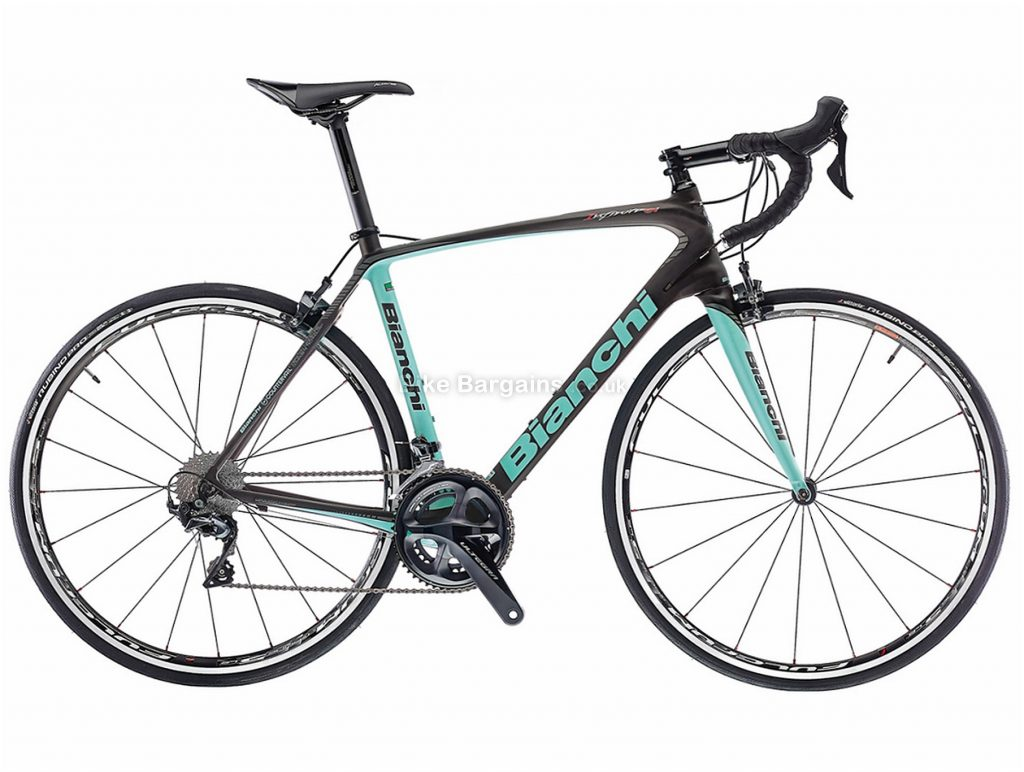 Bianchi Infinito CV Ultegra Carbon Road Bike 2018 59cm, Black, Turquoise, Carbon, Calipers, 22 Speed, 700c