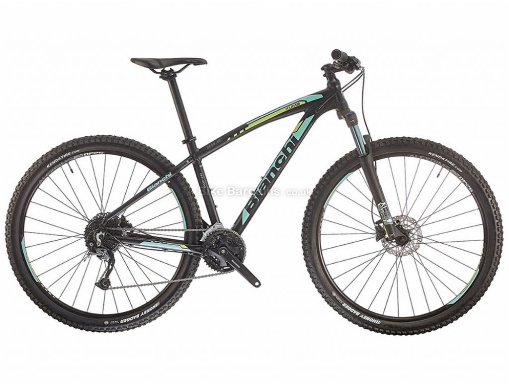 "Bianchi Kuma 27.2 Alivio Alloy Hardtail Mountain Bike 2018 19"", Black, 27.5"", Hardtail, 27 speed, Alloy, Disc"