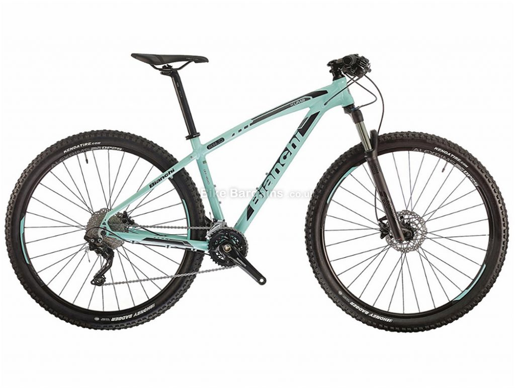 "Bianchi Kuma 29.0 XT Alloy Hardtail Mountain Bike 2018 17"", Turquoise, 29"", Hardtail, 20 speed, Alloy, Disc"