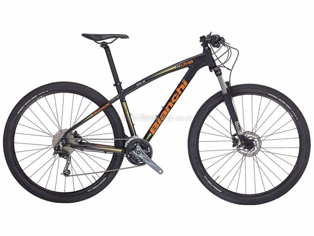 "Bianchi Kuma 29.1 Deore Alloy Hardtail Mountain Bike 2017 17"", Black, Turquoise, 29"", Hardtail, 27 speed, Alloy, Disc"