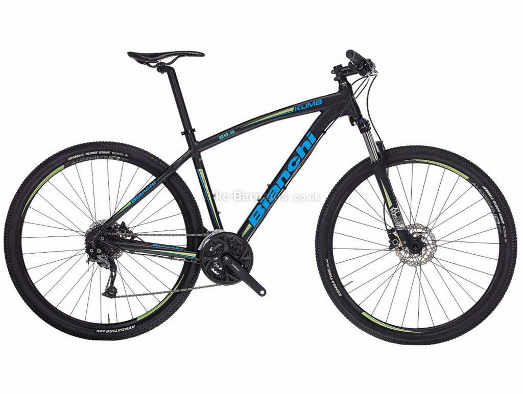 "Bianchi Kuma 29.25 Acera Alloy Hardtail Mountain Bike 2017 17"", Black, Blue, 29"", Hardtail, 24 speed, Alloy, Disc"