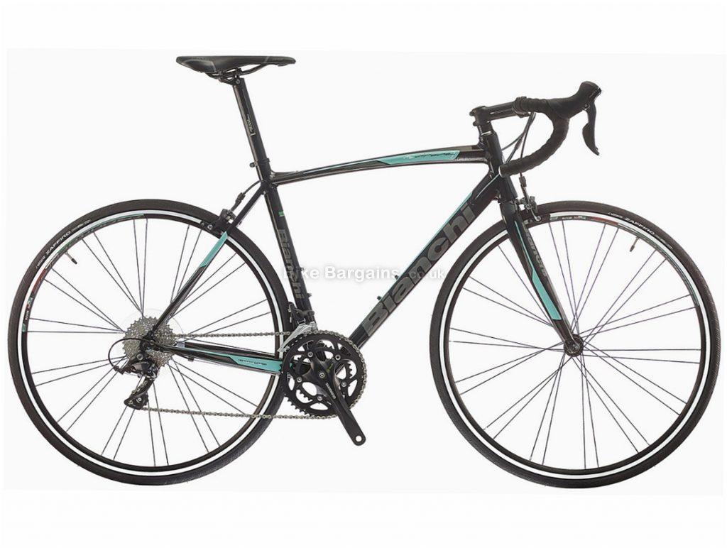 Bianchi Via Nirone 7 Sora Alloy Road Bike 2018 55cm, Black, Turquoise, Alloy, Calipers, 18 Speed, 700c