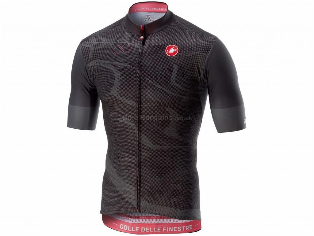 Castelli Finestre Short Sleeve FZ Jersey L, Grey, Short Sleeve, 103g
