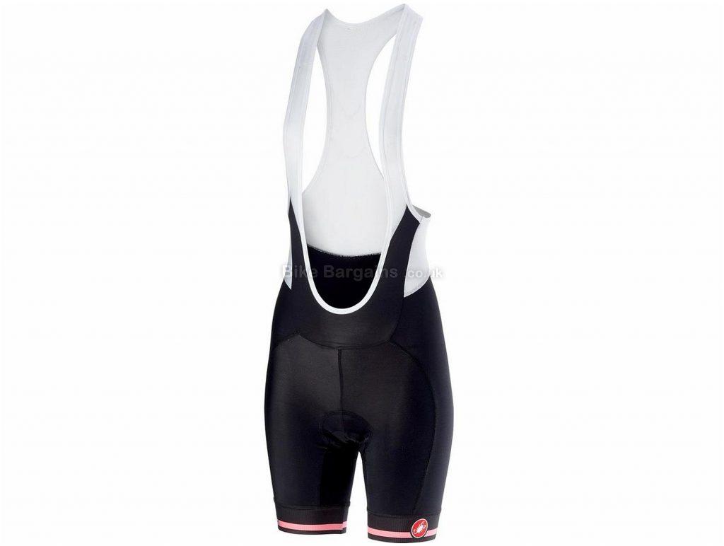 Castelli Giro D'Italia Velocissima Ladies Bib Shorts L, Black, 163g