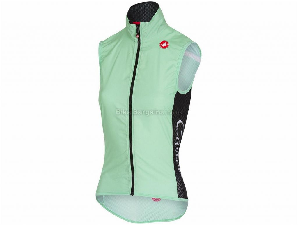 Castelli Pro Light Wind Ladies Gilet 2018 S, Black, Sleeveless, 66g