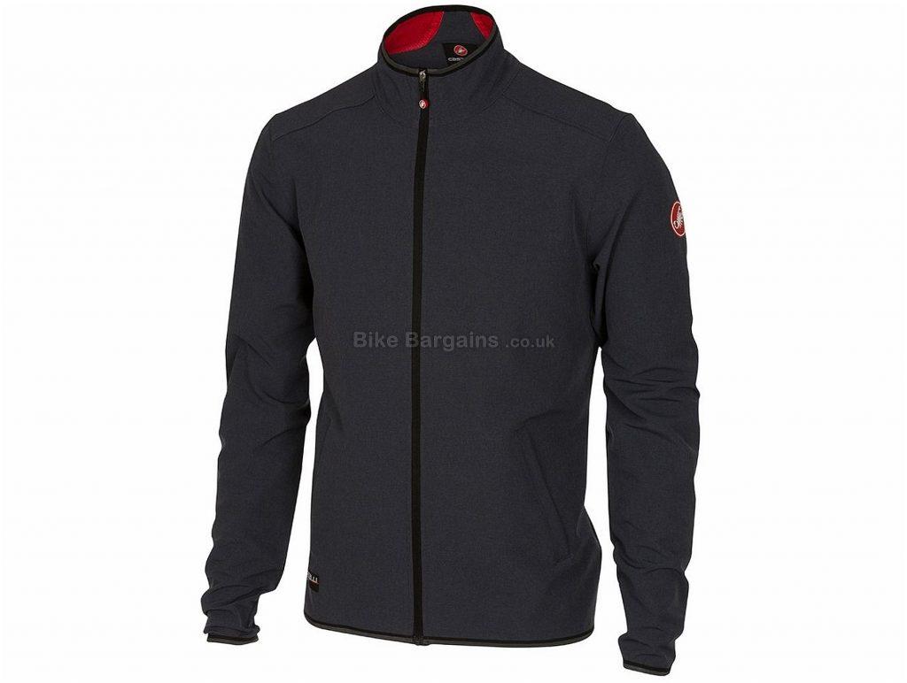 Castelli Race Day Track Jacket 2018 S,M, Grey, Long Sleeve