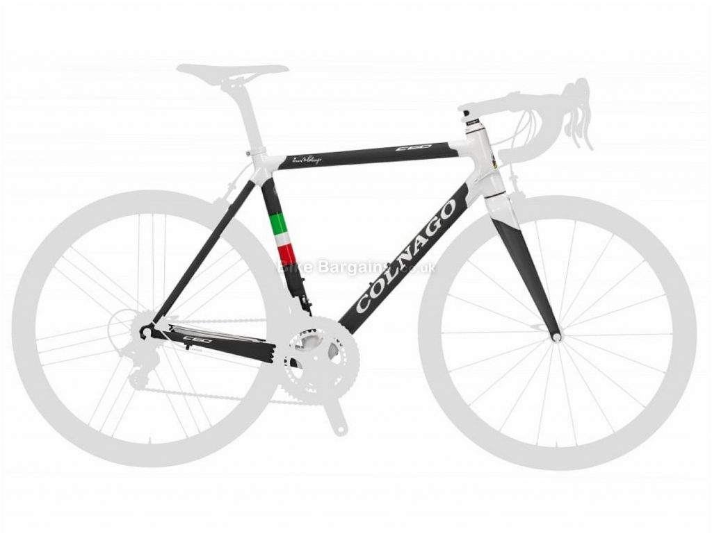 Colnago C60 Carbon Road Frame 55cm, Black, White, Red, 700c, Carbon, Calipers