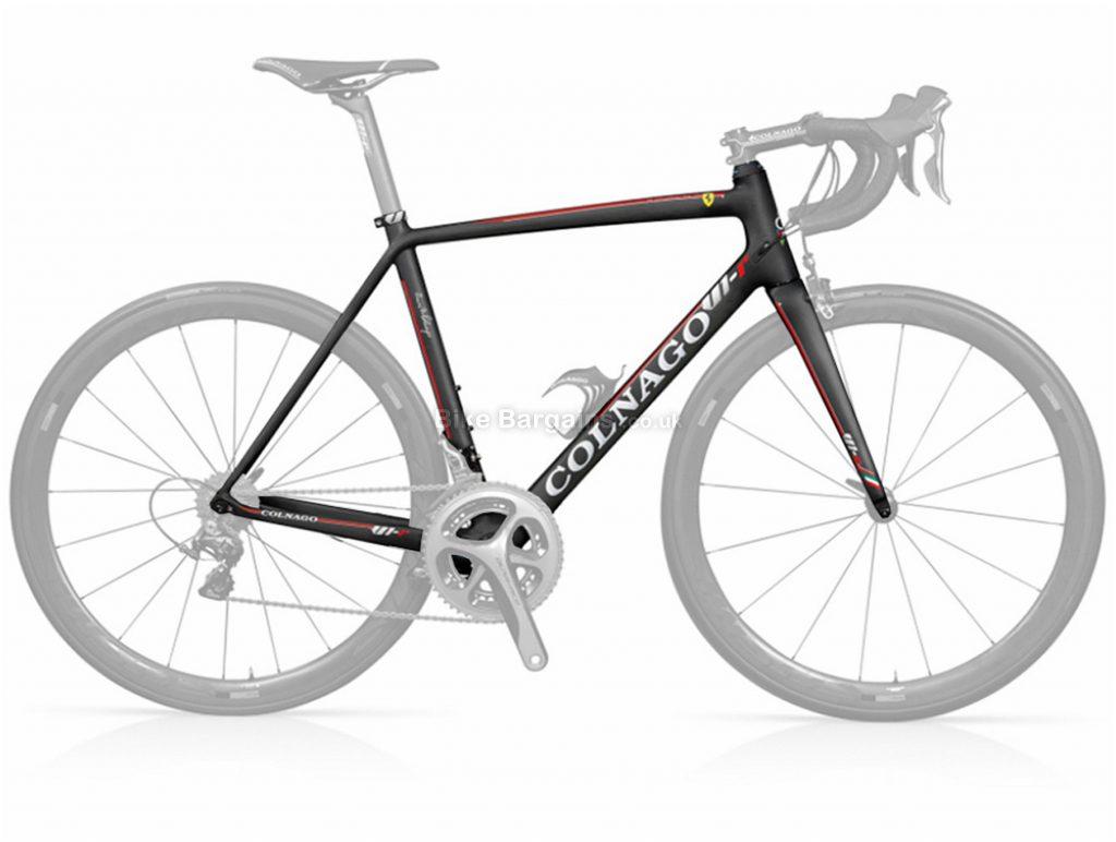 Colnago V1R Carbon Road Frame 52cm, Black, Red, 700c, Carbon, Calipers