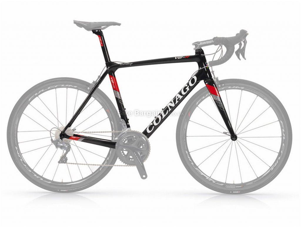 Colnago V2-R Carbon Road Frame 42cm, Black, White, Red, 700c, Carbon, Calipers