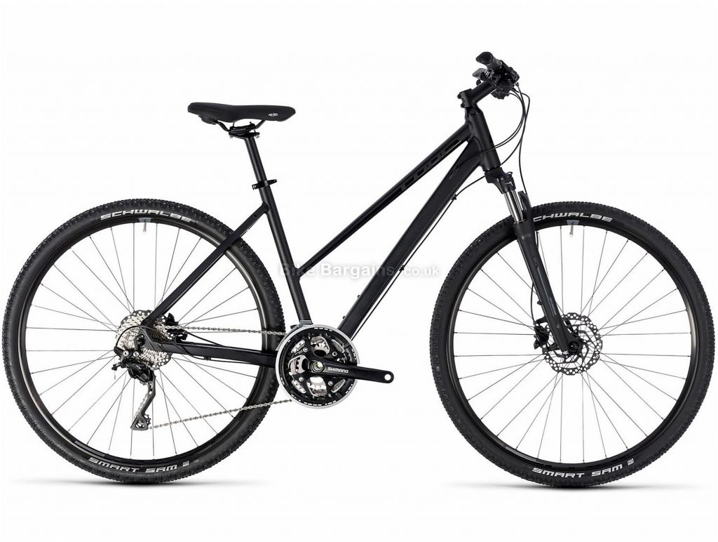 Cube Nature SL Trapeze Ladies Alloy Touring Bike 2018 54cm, Black, Red, Alloy, 700c, 30 Speed, Disc, Hardtail