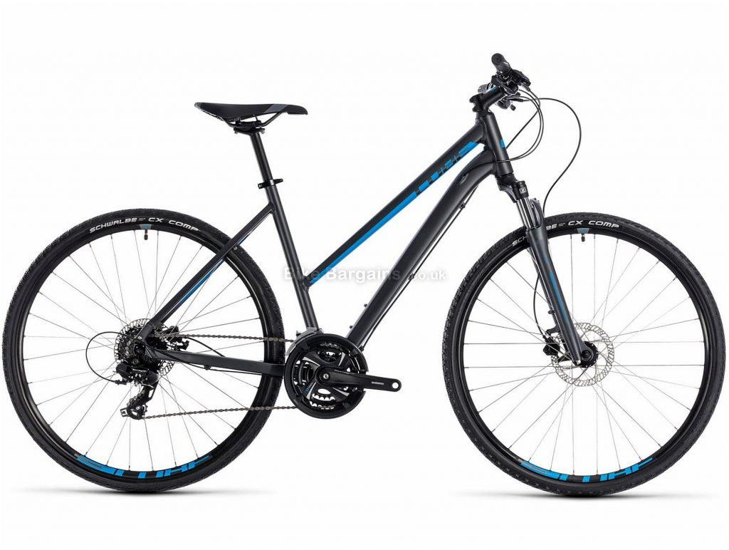 Cube Nature Trapeze Ladies Alloy Touring Bike 2018 50cm, Blue, Grey, Alloy, 700c, 24 Speed, Disc, Hardtail