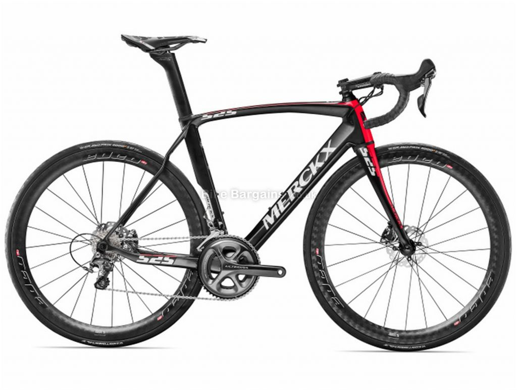 Eddy Merckx EM525 Endurance Disc Carbon Road Bike 2017 S, Black, Red, Carbon, Disc, 22 Speed, 700c