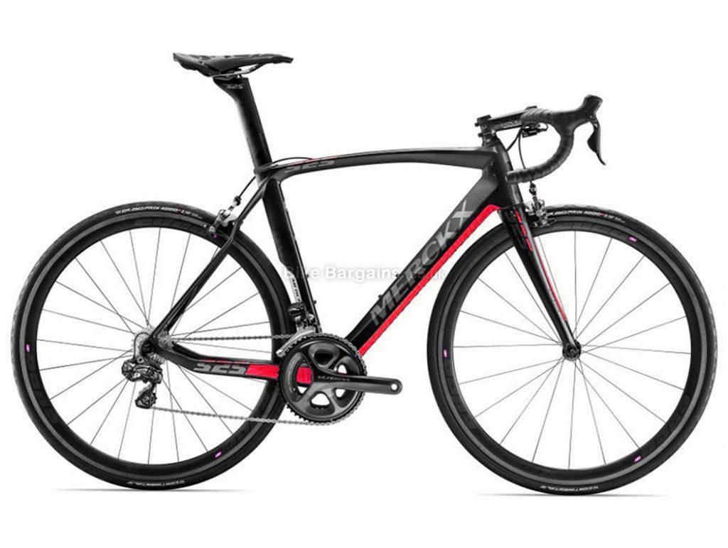 Eddy Merckx EM525 Endurance Ultegra Carbon Road Bike 2017 S, Black, Red, Carbon, Calipers, 22 Speed, 700c