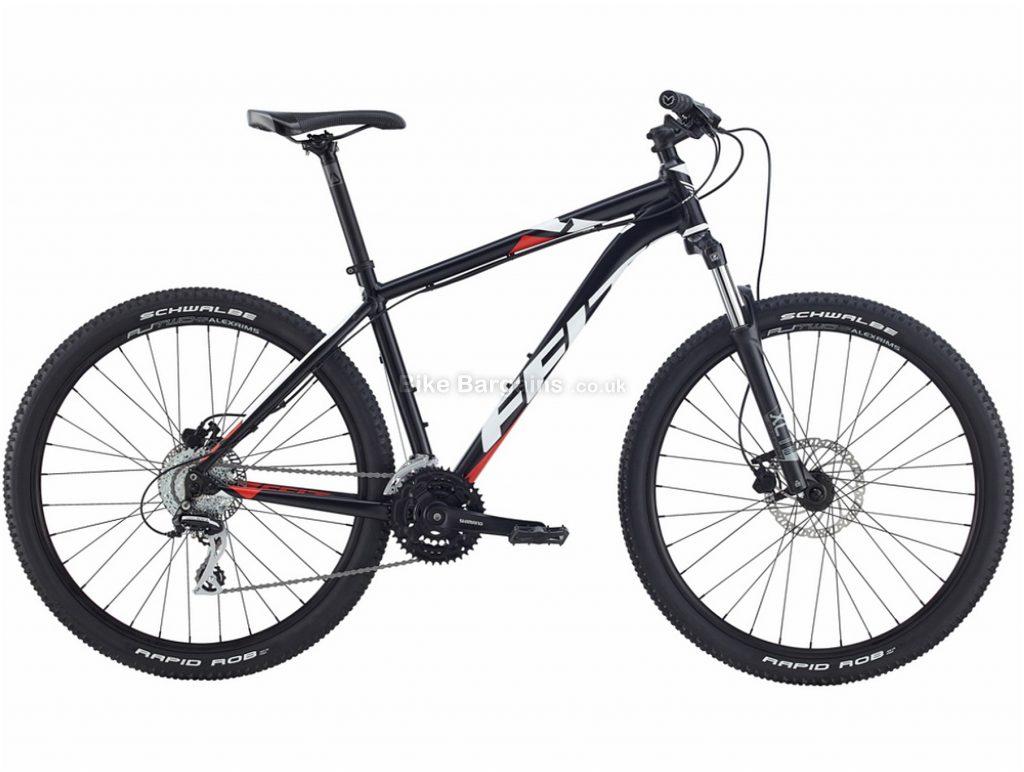 """Felt 7 Eighty Alloy Hardtail Mountain Bike 2017 16"""", Black, White, Red, 27.5"""", Hardtail, 24 speed, Alloy, Disc"""