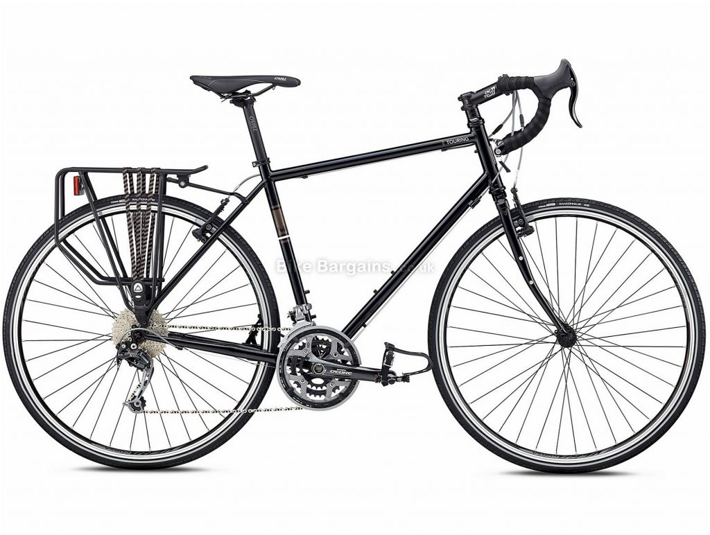 Fuji Touring LTD Steel Road Bike 2018 49cm, Black, 700c, Steel, 27 Speed