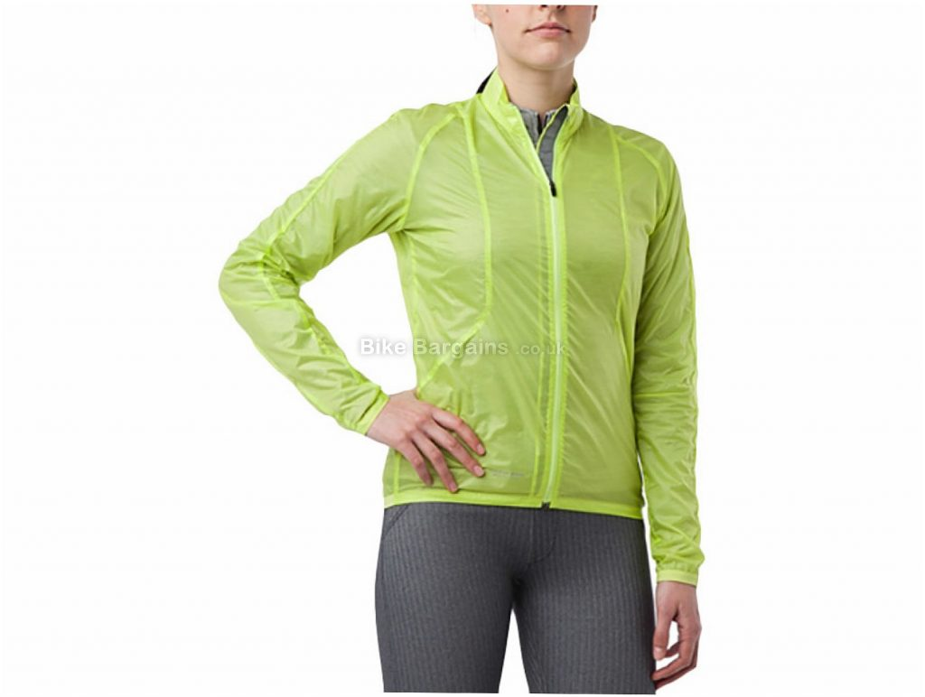 Giro Rip-Stop Ladies Wind Jacket L,XL, Red, Long Sleeve, Packable, Lightweight