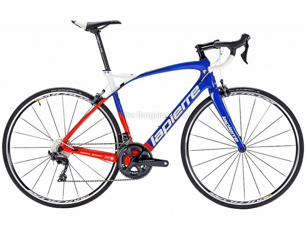 Lapierre Pulsium 600 FDJ Carbon Road Bike 2018 XL, White, Red, Blue, Carbon, Calipers, 22 Speed, 700c