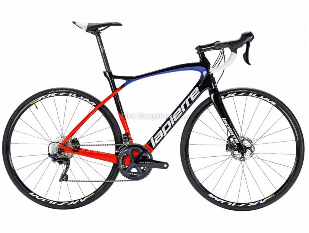 Lapierre Pulsium 600 FDJ Disc Carbon Road Bike 2018 L, Black, Blue, Red, Carbon, Disc, 22 Speed, 700c