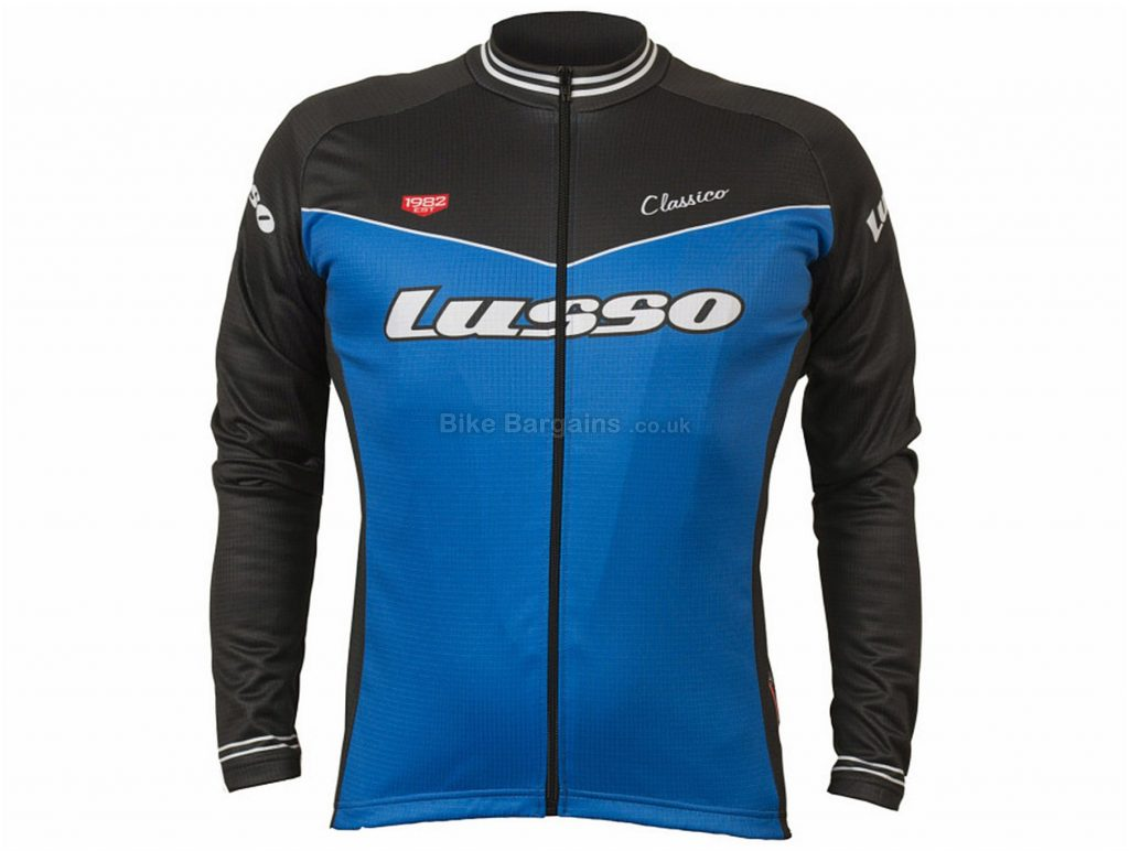 Lusso Classico Long Sleeve Jersey S, Green, Black, Long Sleeve