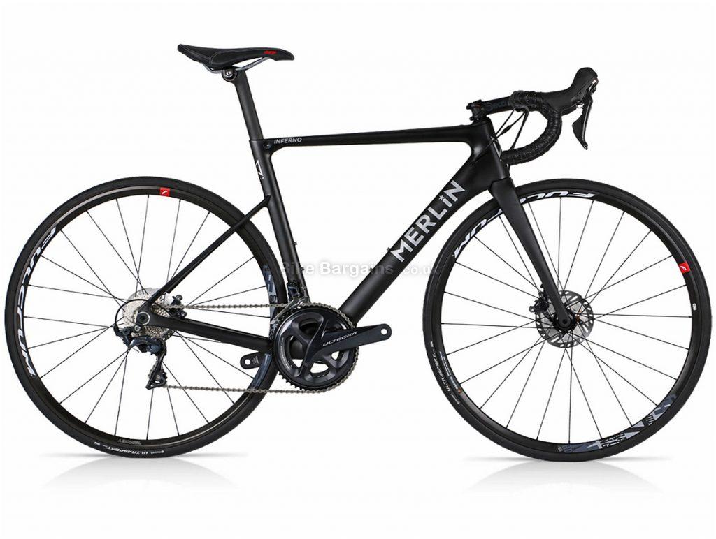 Merlin Inferno Ultegra Disc Carbon Road Bike XS,L,XL, Black, Carbon, Disc, 22 Speed, 700c