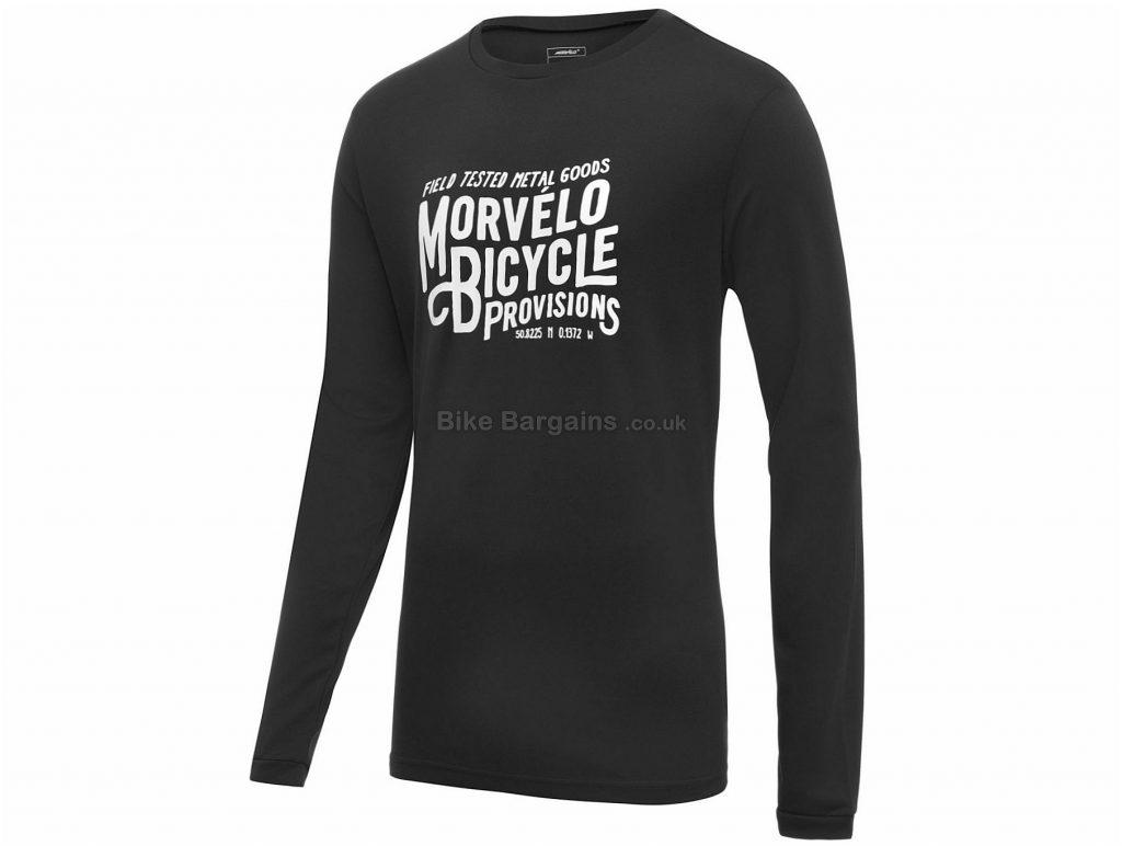 Morvelo Metal Goods Long Sleeve Tech T-Shirt 2019 XS,XL, Red, Black, Long Sleeve