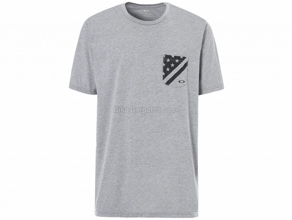 Oakley 50 Flag Pocket T-Shirt 2018 S, Grey, Short Sleeve