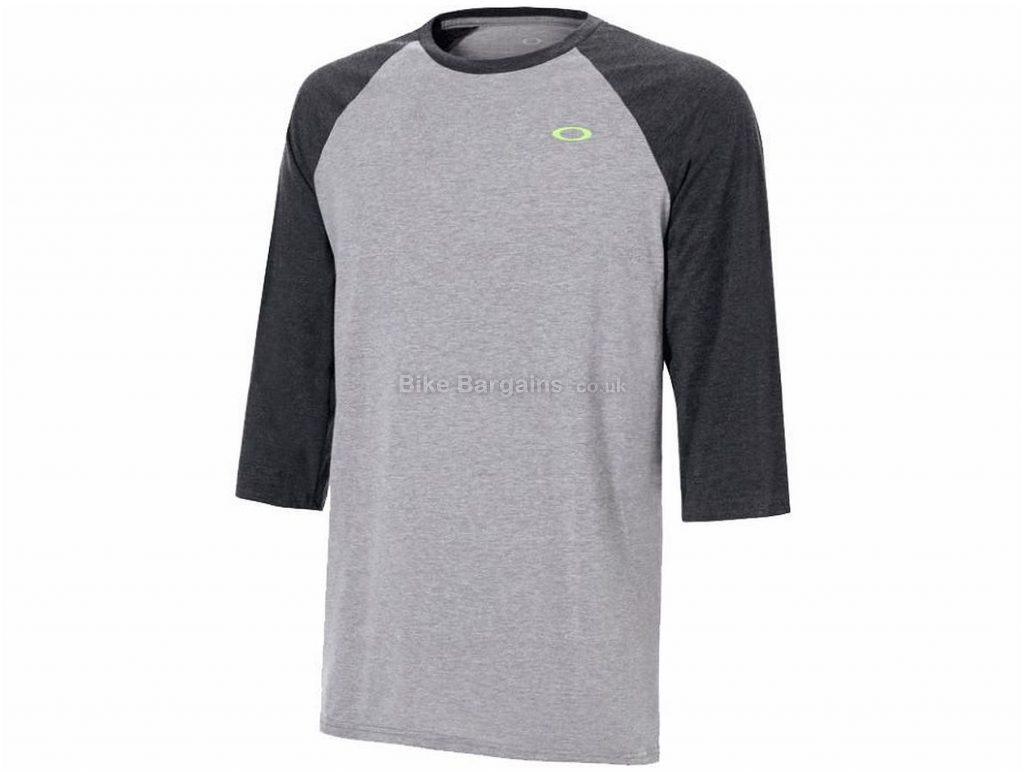 Oakley SO-DTP Raglan Short Sleeve T-Shirt 2018 L,XL,XXL, Grey, Green, Short Sleeve