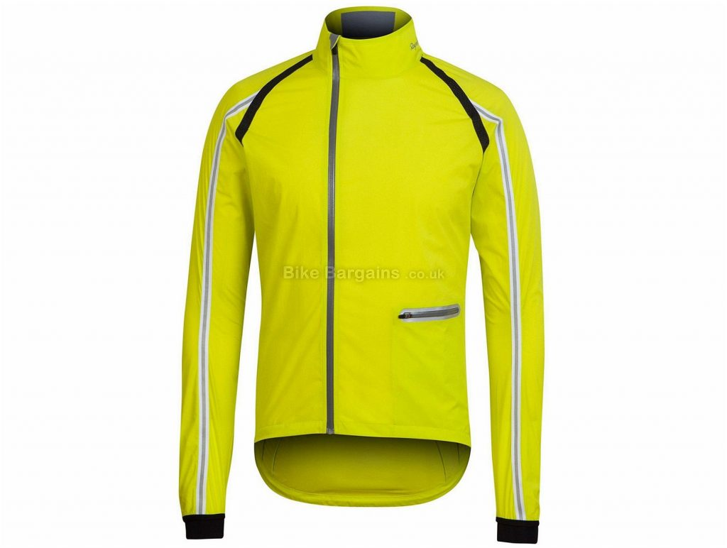 Rapha Classic Wind Jacket XS, Yellow, Long Sleeve